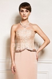 Lace bodice Simple chic Mother of the bride dress