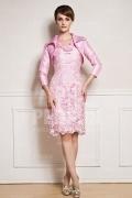 Chic Knielang Etui-Linie Abendkleid in Rosa aus Taft