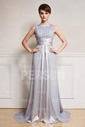 Elegantes A-Linie Ärmelloses Abendkleider aus Chiffon