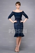 Off shoulder Elegant Knee length formal mother of the bride Dress