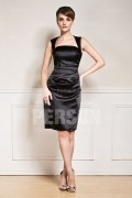 Sexy Black Strapless Knee Length Mother of the Bride Dress