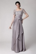 Elegant Open back Floor Length Modern Mother of the Bride Dress