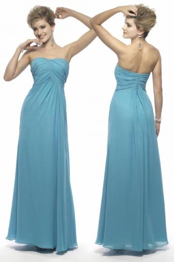 Schlichtes Langes Blaues A Linie Abendkleider aus Chiffon Persun