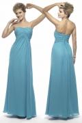 Schlichtes Langes Blaues A Linie Abendkleider aus Chiffon