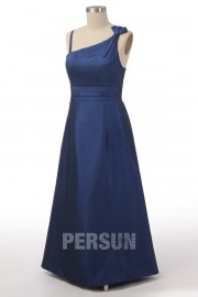 A line Spaghetti Empire Bow Floor Length Bridesmaid Dress