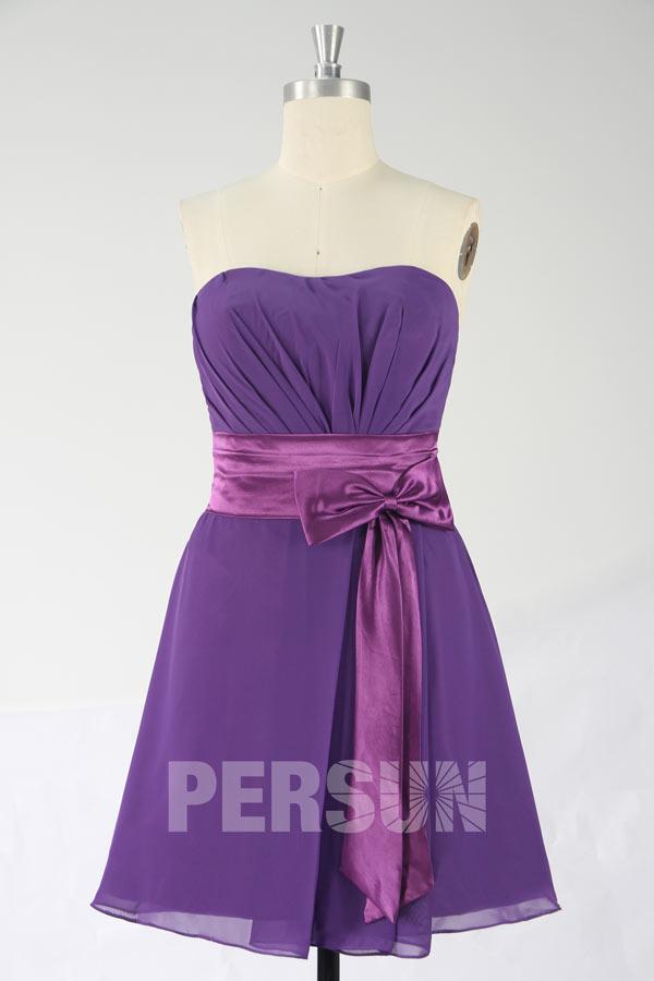 robe genoux bustier en satin pour demoiselle d 39 honneur. Black Bedroom Furniture Sets. Home Design Ideas