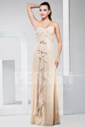New Ruffles Ruching Sweetheart Chiffon Long A line Formal Bridesmaid Dress