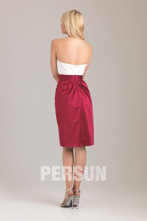 robe demoiselle d 39 honneur bustier bicolore rouge et blanc. Black Bedroom Furniture Sets. Home Design Ideas