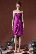 Gorgeous Pleats Column Sweetheart Satin  Bridesmaid Dress