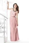 Vestido de noite elegante tomara que caia plissado decote Canoa