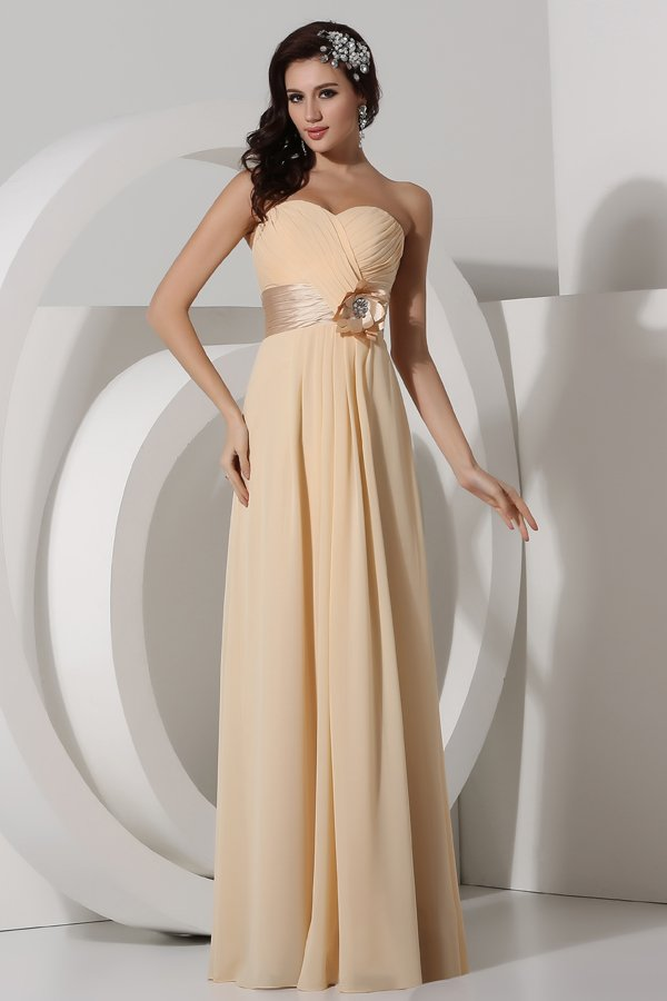 Robe bustier taille empire
