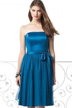 Cute A line Empire Pleated Knee Length Bridesmaid Dress