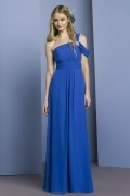 Ruffles Off Shoulder Chiffon A line Formal Bridesmaid Dress
