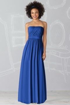 Whitehaven Strapless Pleats Ruching A line Bridemaid Dress