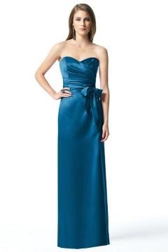 Whitnash Elegant Sweetheart Bowknot Ruching A line Bridesmaid Dress