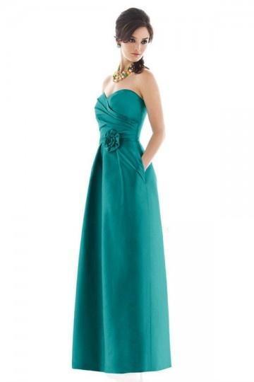 Dressesmall Elegant Pleats Flower Sweetheart Taffeta A line Formal Bridesmaid Dress