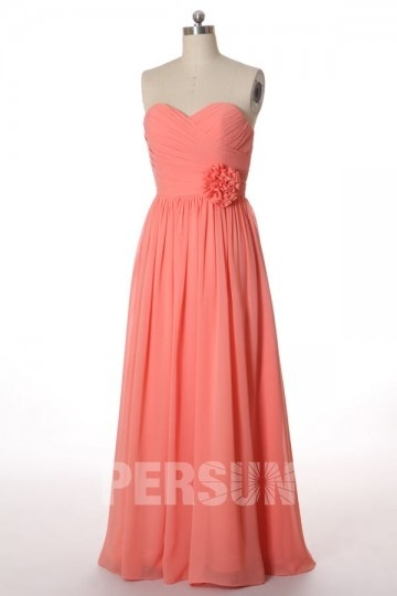 Dressesmall Wrap Pleats Sweetheart Chiffon A line Formal Bridesmaid Dress