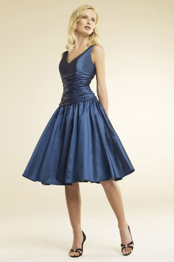 swing skirt bridesmaid dress
