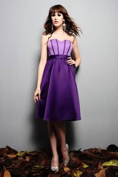 Farnham Sweetheart Pleated Purple Bridesmaid Gown