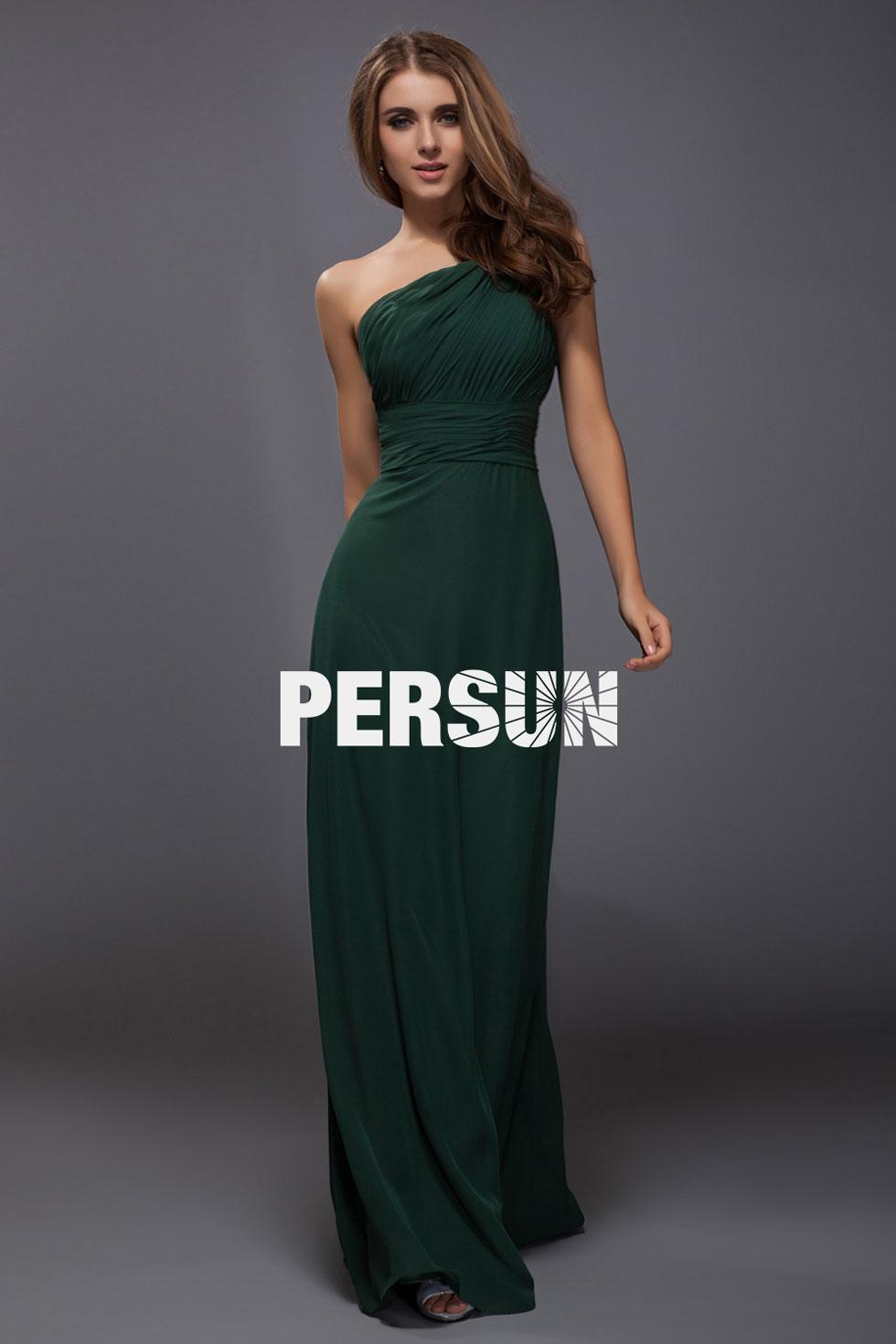 robe simple à encolure asymétrique