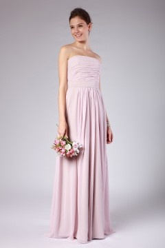 Moreton in Marsh Strapless Empire Sash Pink Bridesmaid Gown