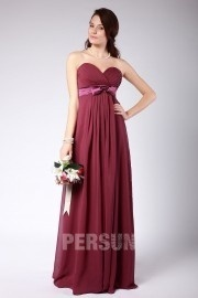 Ruched Sweetheart Chiffon Floor Length Formal Bridesmaid Dress
