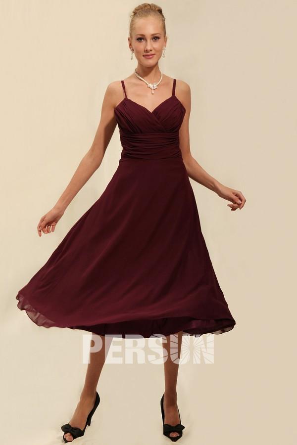 robe demoiselle d 39 honneur empire avec bretelles fines. Black Bedroom Furniture Sets. Home Design Ideas