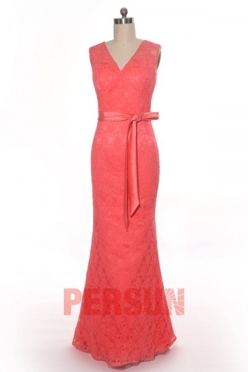 Inexpensive Cap Sleeves Open Back Trumpet Lace Evening Dress