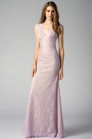 lilac lace mermaid bridesmaid dress