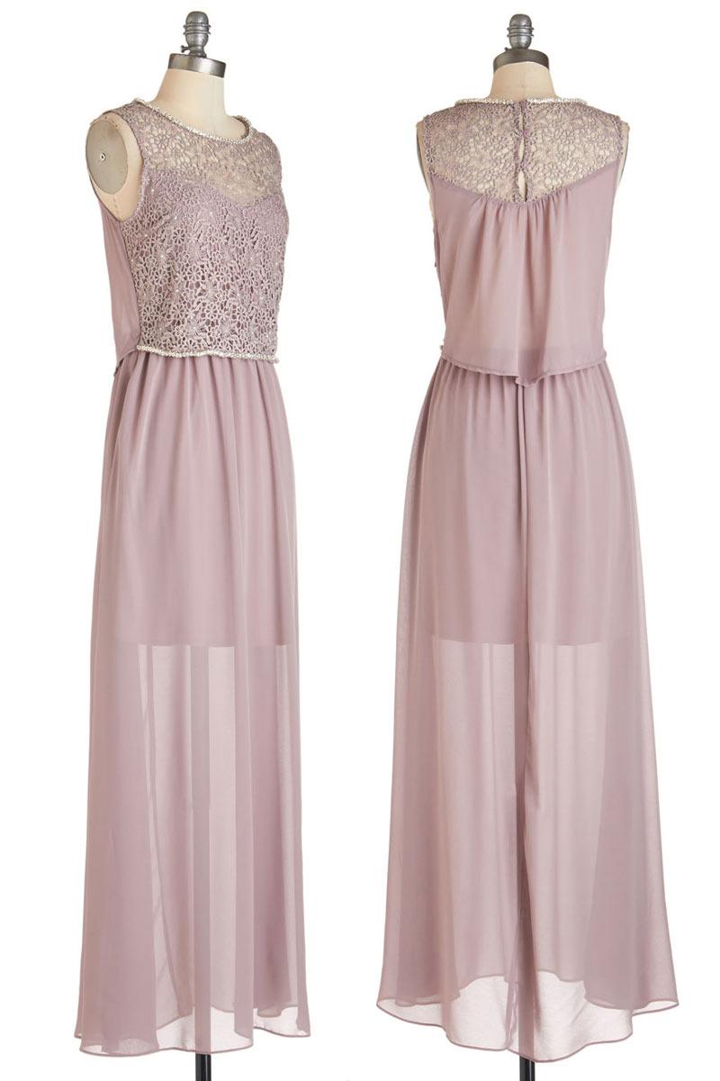 robe party chic en rose nude haut en dentelle ajour e. Black Bedroom Furniture Sets. Home Design Ideas