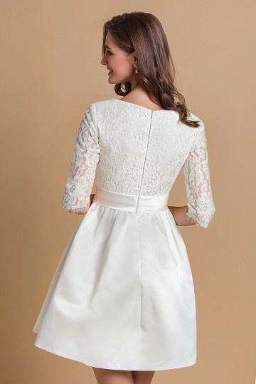 elegantes v ausschnitt a linie knielang abendkleid aus