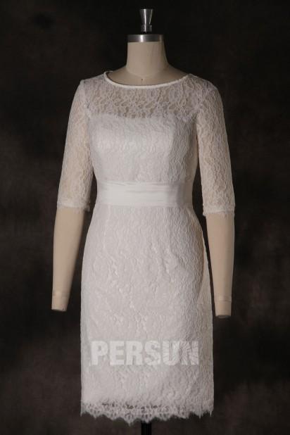 Elegantes knielanges Boot-Ausschnitt Abendkleider mit Ärmel Persun
