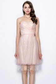 Sweetheart Knee Length Ruching Homecoming Dress