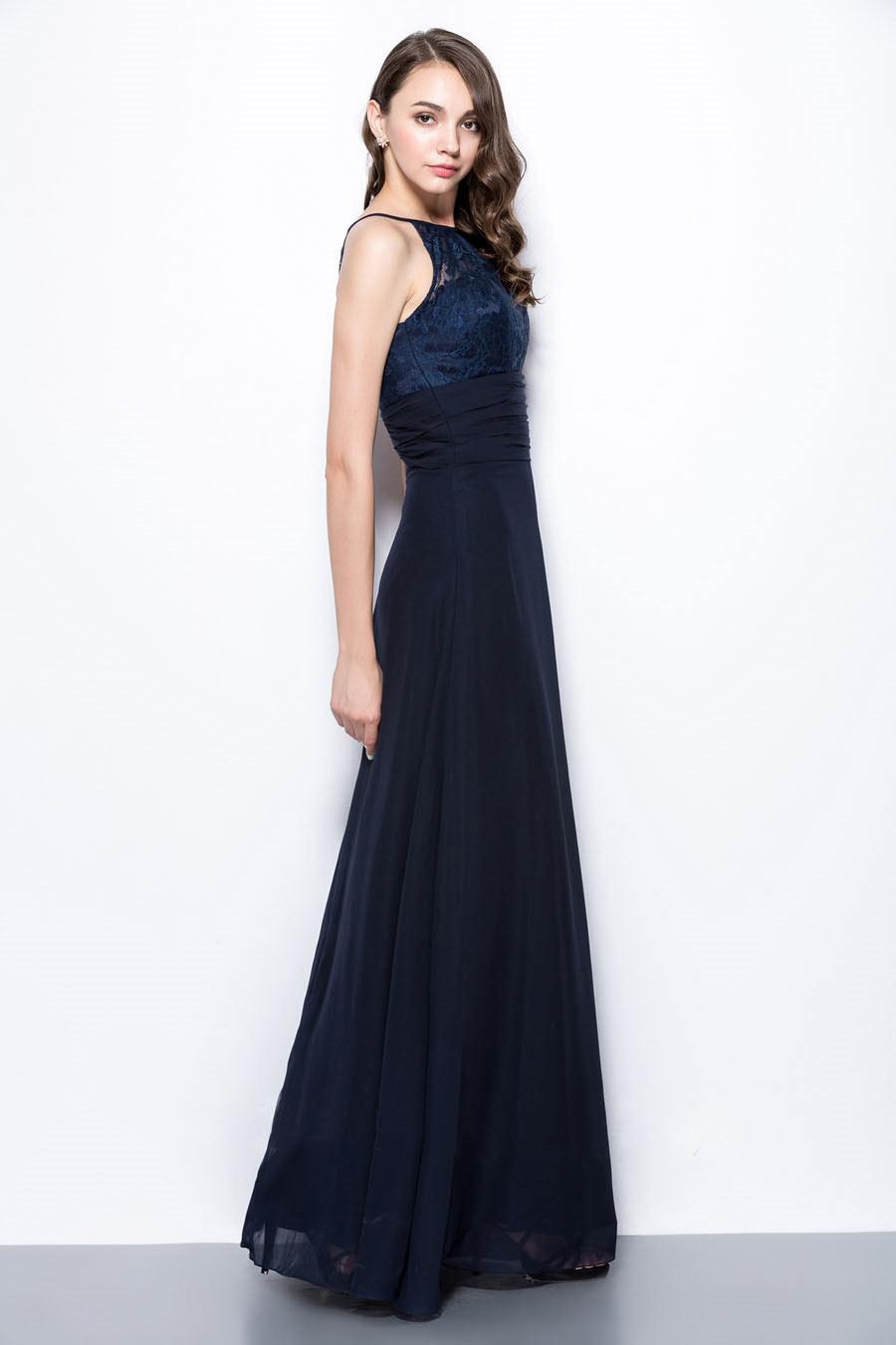 robe pour un mariage longue encolure halter haut en. Black Bedroom Furniture Sets. Home Design Ideas
