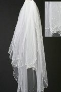 Fingertip Length Three-tier Angel Cut Wedding Veil