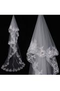 Einschichtig Kathedralen Hochzeit Schleier mit Lace
