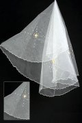 Elbow Length One-tier Pencil Edge Drop Wedding Veil