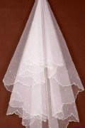 Elbow Edge One-tier Pencil Edge Wedding Veil