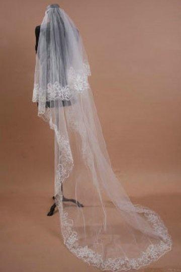 Kapellen Einschichtig Hochzeit Schleier mit Lace Persun