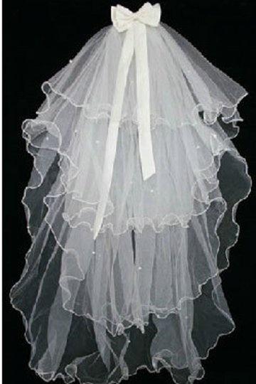 Fingertip Length Four-tier Angel cut Wedding Veil