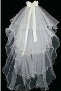Fingertip Length Four-tier Angel cut Wedding Veil