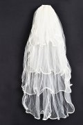 Fingertip Length Four-tier Waterfall Ruffle Wedding Veil