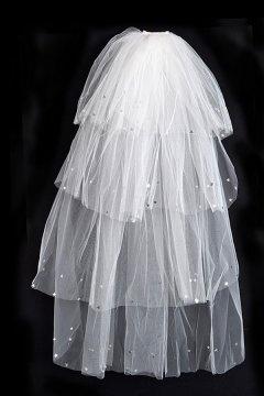 Voile de mariée paillettes d'étoile 4 couches en organza
