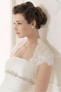 Elegantes Ivory Spitze Boleros-Hochzeitsmode