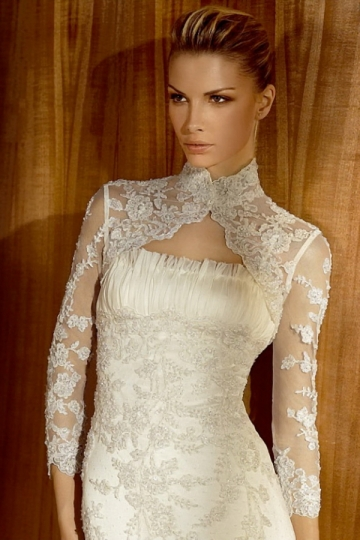 Dressesmall 3 4 Sleeves Long Lace Appliques Bridal Wrap
