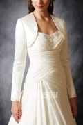 Elegant Long Sleeves Satin Bridal Jacket Wedding Wrap