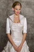Half Sleeves Satin Special Occasion Jacket Wedding Wrap