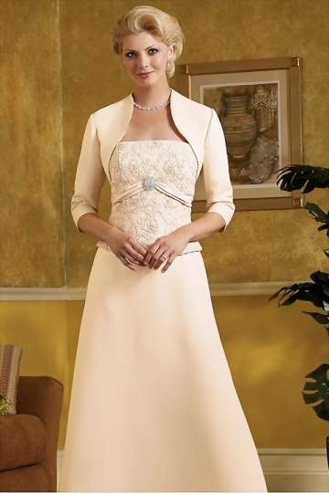 Dressesmall 3 5 Sleeves Long Satin Wraps For Brides (several colors)