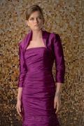 Chic lila Revers Ausschnitt Boleros aus Taft