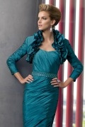 Modern Ruffles Long Sleeves Taffeta Wrap